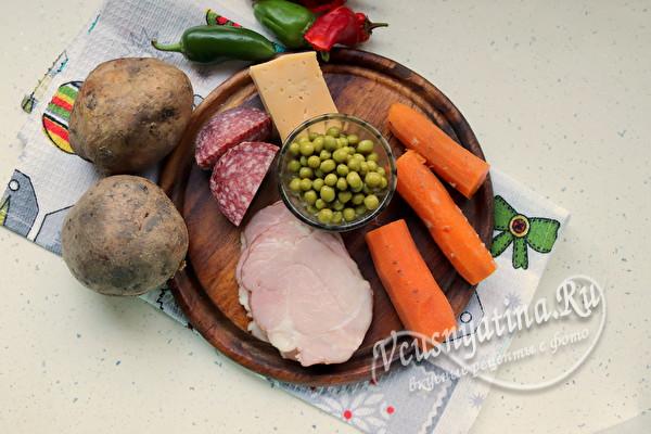 """Праздничный салат """"Елочные шары"""" на Новый год"""