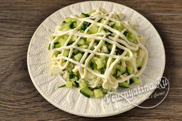 Селёдка под зелёной шубой с сыром и без свеклы