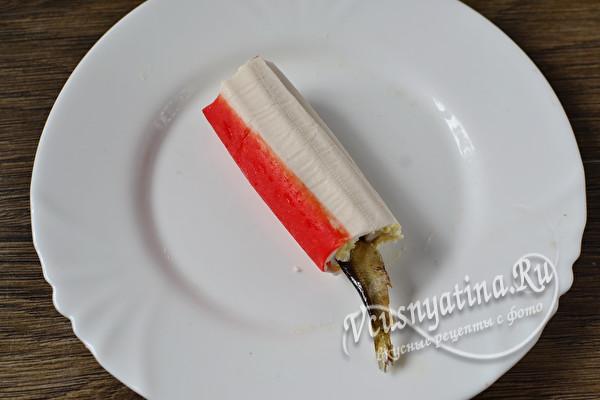 Фаршированные крабовые палочки с простыми и вкусными начинками