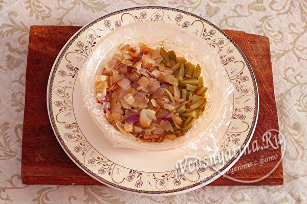 Салат «Печенкин» с куриной печенью (слоями)