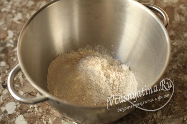 Вкусный пирог с грибами и картошкой