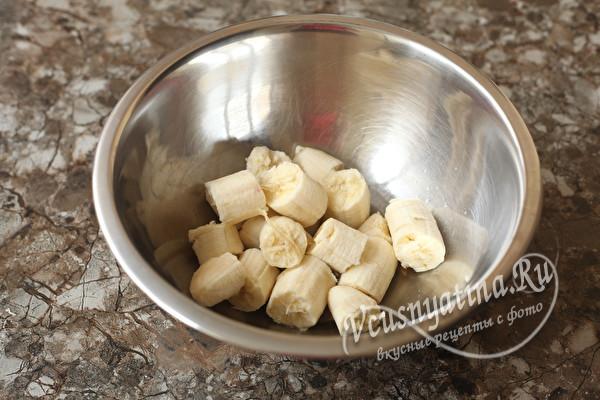 Постный банановый кекс