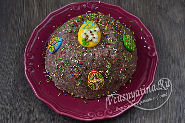 Вкусная творожная пасха с шоколадом