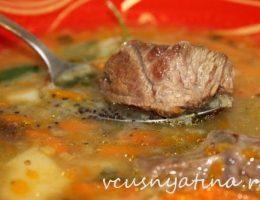 суп мясной рецепт