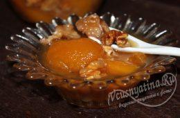 Варенье из абрикосов с грецкими орехами