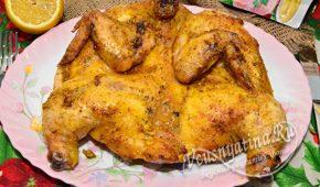 Миниатюра к статье Цыпленок табака в духовке с хрустящей корочкой