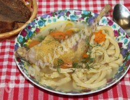 Домашняя лапша с курицей рецепт с фото