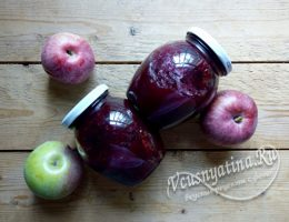 Джем из яблок и рябины