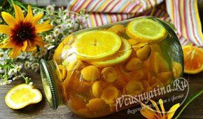 Миниатюра к статье Компот из абрикосов и апельсинов как Фанта на зиму