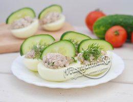 Диетические фаршированные яйца по Дюкану – рецепт с фото