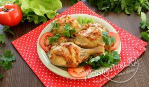 Миниатюра к статье Куриные голени (ножки) с аджикой и майонезом в духовке – вкуснотища!