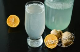 Напиток из имбиря и лимона
