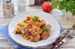 Миниатюра к статье Картошка по-деревенски на сковороде — так мама всегда готовит