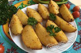 Миниатюра к статье Картофель с чесноком и аппетитной корочкой по-деревенски