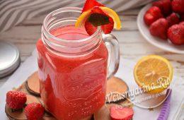 Клубничный лимонад с мятой