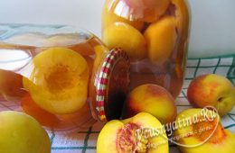 Компот из персиков на зиму