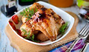 Миниатюра к статье Куриные крылышки в медово-горчичном соусе – невероятно вкусное сочетание