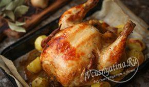 Миниатюра к статье Курица на банке с картошечкой в духовке