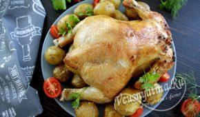 Миниатюра к статье Курица на банке с пивом в духовке — готовить очень просто
