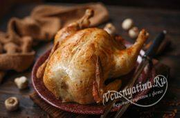 Курица фаршированная гречкой в духовке