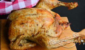 Миниатюра к статье Запеченная курица с яблоками и черносливом