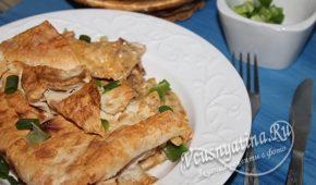 Миниатюра к статье Курица в лаваше – необычное и вкусное блюдо
