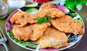Миниатюра к статье Сочные куриные отбивные с хрустящей корочкой на сковороде