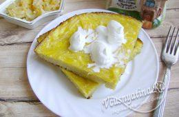 Лапшевник с яйцом и молоком