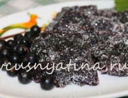заготовки из черной смородины