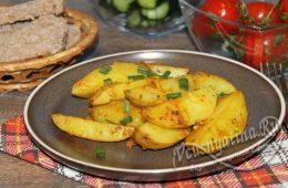 запеченный молодой картоффель