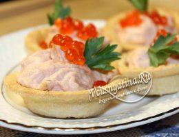 Миниатюра к статье Праздничные тарталетки с муссом из лосося