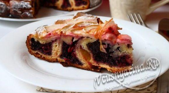 пирог с вишней и маком