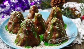 Миниатюра к статье Красивое и вкусное пирожное «Елочки» на Новый год