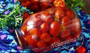 Миниатюра к статье Маринованные помидоры с бархатцами на зиму
