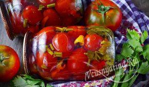 Миниатюра к статье Очень вкусные маринованные помидоры с сельдереем на зиму