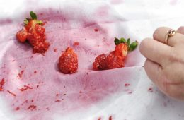 пятна от ягод клубники