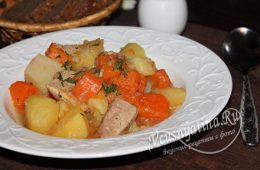 Рагу со свининой и тыквой с картофелем