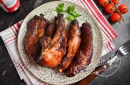 Свиные ребрышки в соевом соусе с медом в духовке