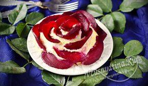 Миниатюра к статье Красивый и очень вкусный салат «Роза»