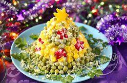 Миниатюра к статье Бесподобно красивый и вкусный салат «Елка» к Новому 2020 году
