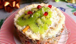Миниатюра к статье Вкусный салат с индейкой на Новый год