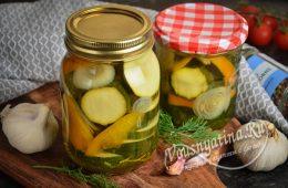 Салат из кабачков с болгарским перцем на зиму без стерилизации