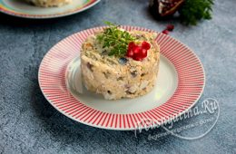 салат с копченой скумбрией и кускусом
