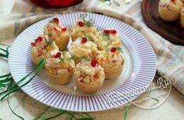 салат из крабовых палочек в тарталетках