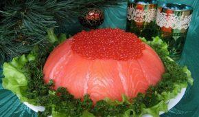 Миниатюра к статье Салаты с рыбой на Новый год 2020: простые и вкусные рецепты для новогоднего стола