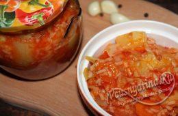 салат с кабачками и рисом на зиму