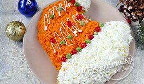 Миниатюра к статье Вкусные салаты на Новый год. Рецепты новых салатов к новогоднему столу 2020