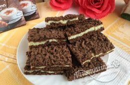 Шоколадное печенье с творожной начинкой
