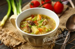 Суп из говядины с картошкой