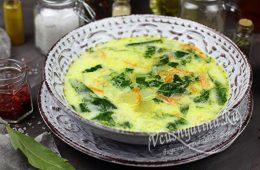 Суп со шпинатом и сливками